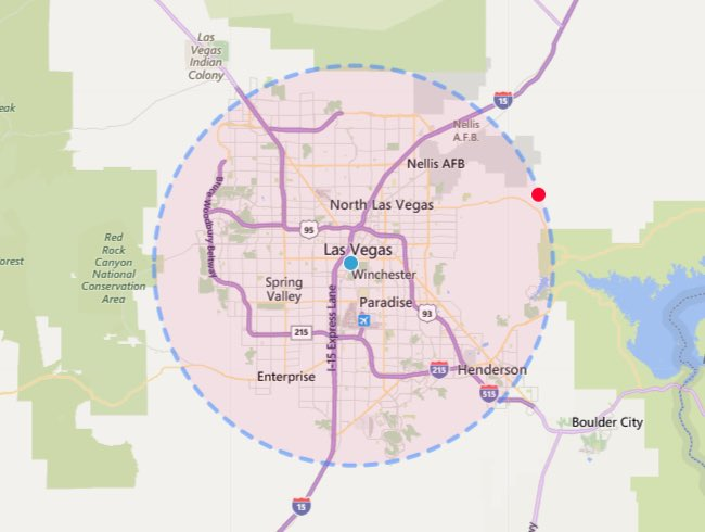 Measure Radius on Map